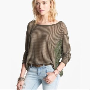 Free People Love Me Do Top in Olive